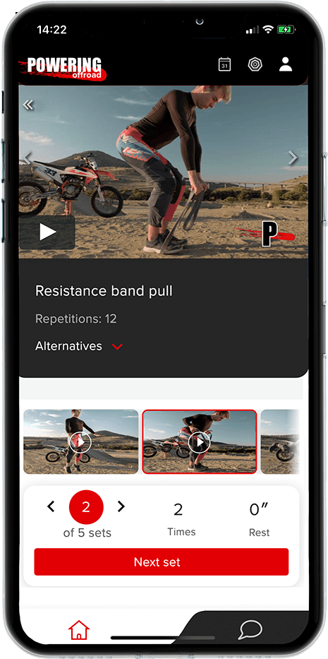 motocross workout from powering fitness app for dirt bike riders