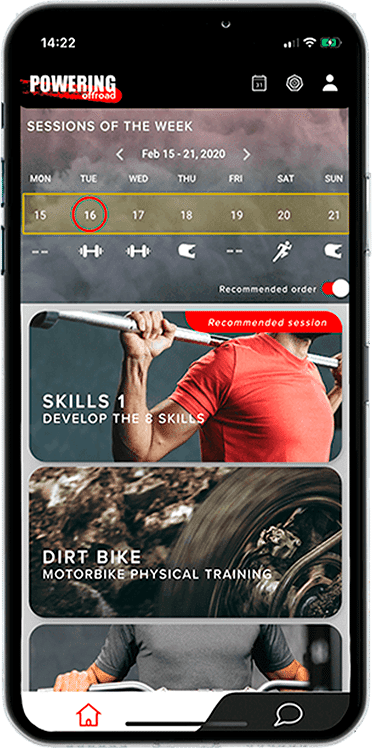 training sessions powering fitness app for motocross & dirt bike riders+