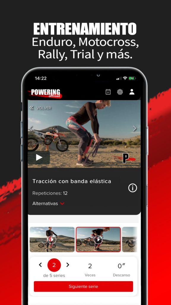 App de entrenamiento para pilotos de enduro y motocross