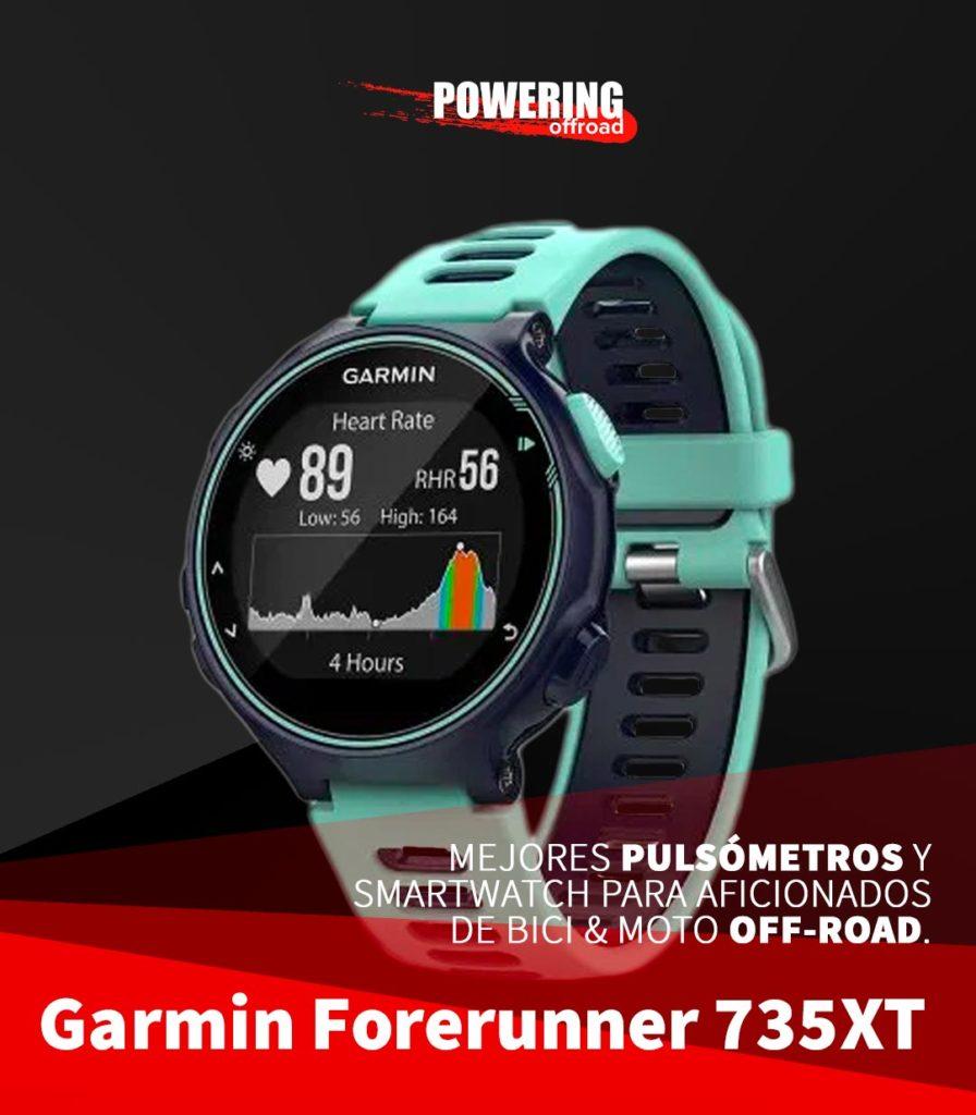 Mejores smartwatch y pulsometros 2020 para moto y bici off-road - Garmin Forerunner 735XT_