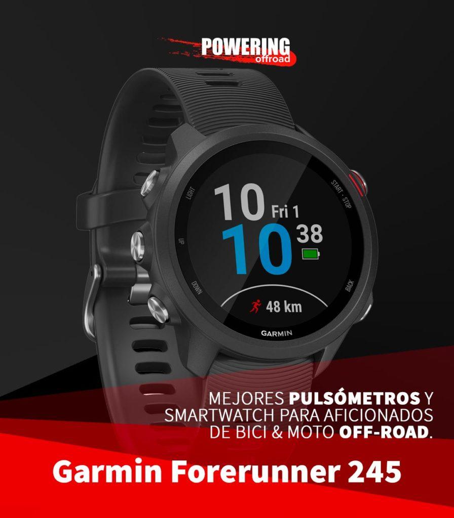 Mejores smartwatch y pulsometros 2020 para moto y bici off-road - garmin-forerunner-245
