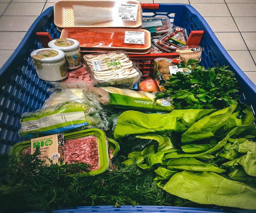 Comida saludable supermercado
